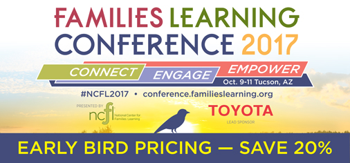 Early Bird pricing for Families Learning Conference