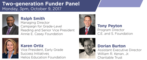 Two-generation Funder Panel – Monday, October 9, 2017