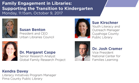 Family Engagement in Libraries - Monday, October 9, 2017