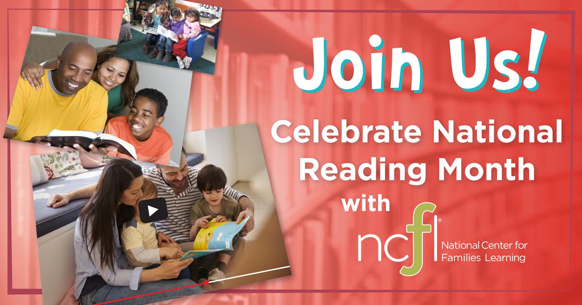 Join NCFL in celebrating National Reading Month