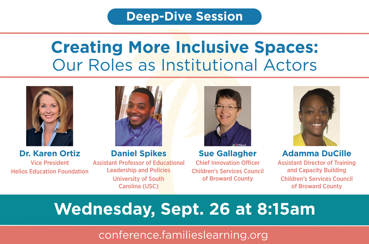 Creating More Inclusive Spaces: Our Roles as Institutional Actors, Wednesday, September 26 at 8:15am