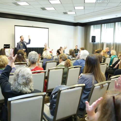 Attendees at a presentation at the 2019 Families Learning Conference